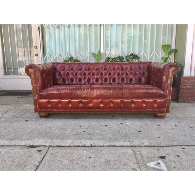 Vintage Chesterfield Leather Sofa - Image 2 of 5