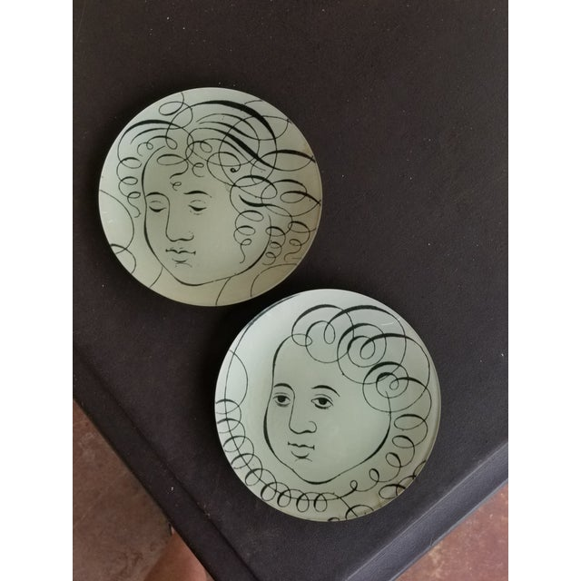 John Derian Glass Plates - a Pair For Sale In San Antonio - Image 6 of 7