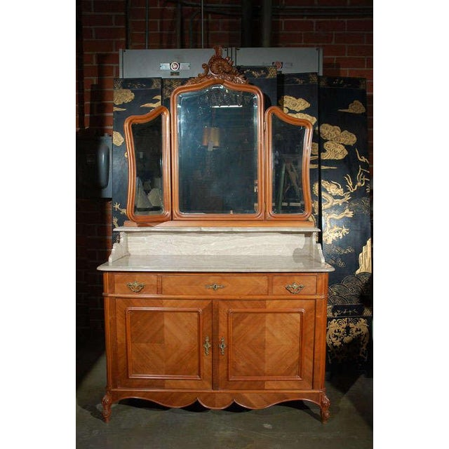 Marble Top Commode with Mirrors For Sale - Image 5 of 10