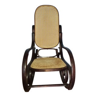 Thonet-Style Rocking Chair For Sale