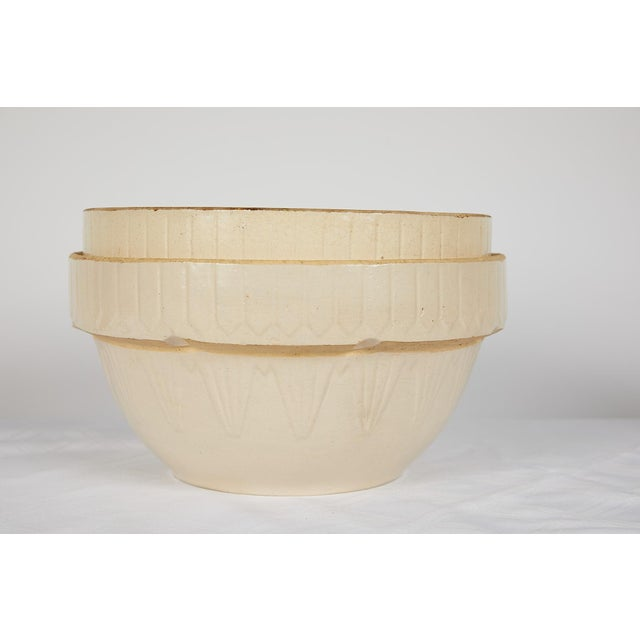 American Art Deco Earthenware Mixing Bowl Set For Sale - Image 9 of 13
