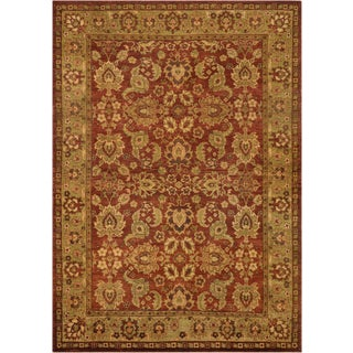 """Mansour Fine Handwoven Agra Rug - 6' X 8'7"""" For Sale"""