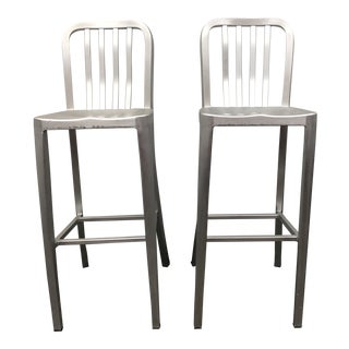 Crate & Barrel Delta Barstools - a Pair For Sale