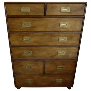 Baker Campaign-Style Wooden Dresser