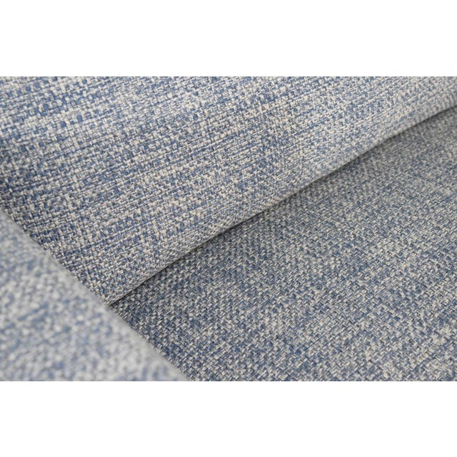 Blue Charles Pfister for Knoll Settee in Pollack Blue Weave Fabric For Sale - Image 8 of 10
