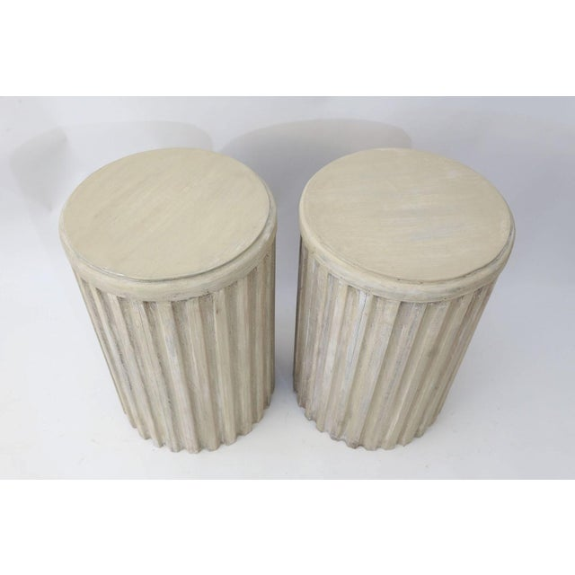 Two Painted Pedestal Tables For Sale - Image 4 of 12