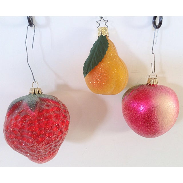Cottage Frosted Fruit Christmas Ornaments - Set of 3 For Sale - Image 3 of 3