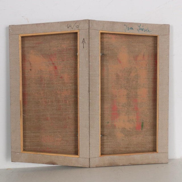 Tom Levine (American; born 1945) Untitled, 21st century Oil painting on unprimed linen Signed to the verso Inscribed...