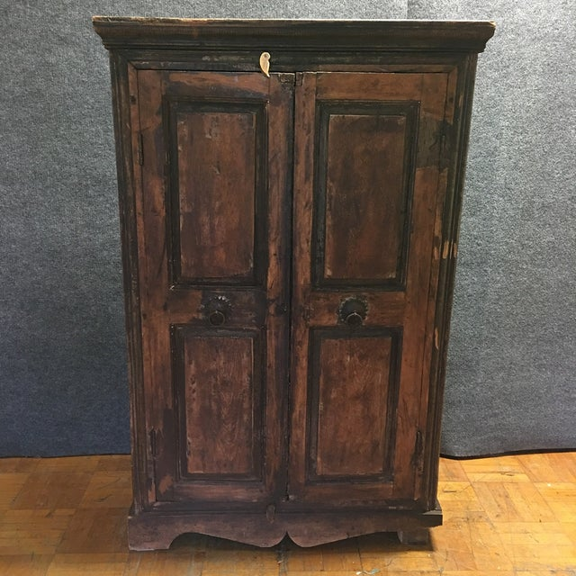 Refinished Antique Wooden Armoire - Image 3 of 10