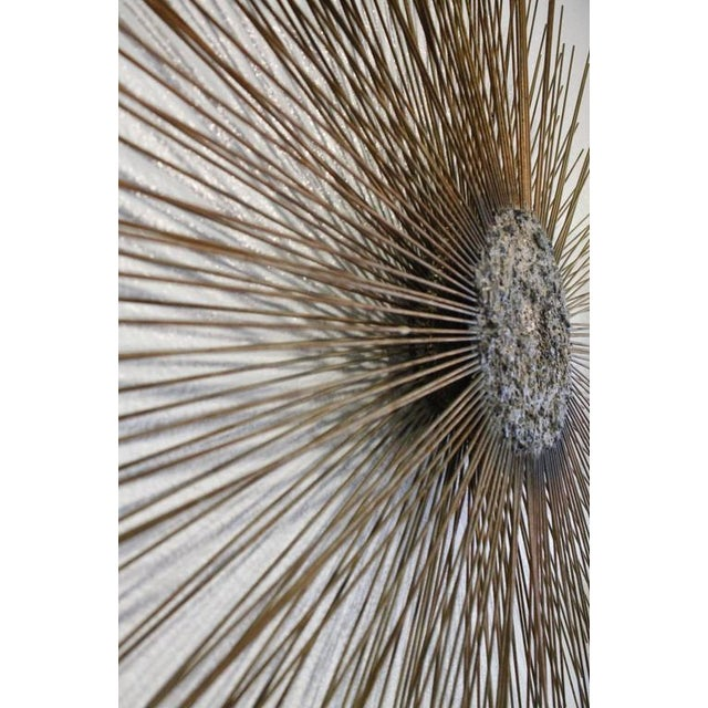 Curtis Jere Vintage Brass and Bronze Brutalist Starburst Wall Hanging - Image 4 of 10