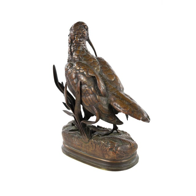 19th Century Patinated Bronze Sculpture of Woodcock by Alfred Dubucand For Sale In Los Angeles - Image 6 of 9
