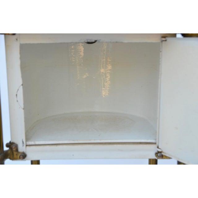 Metal Antique Medical Cabinet Rolling Cart For Sale - Image 7 of 10