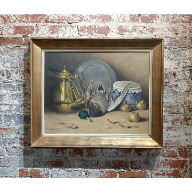 Moeng - Still Life W/Dead Game -19th Century Oil Painting For Sale - Image 10 of 10