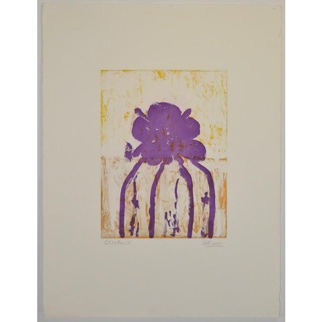 "Arthur Krakower (1921-2009) ""Atherton"" Original Monotype c.2004 Original monotype by noted octogenarian artist Arthur..."