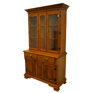 Tell City Solid Hard Rock Maple Colonial Style China Cabinet Preview