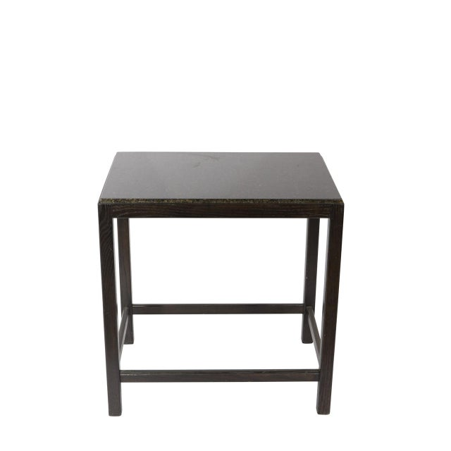 Modern Marble Top Side Table For Sale - Image 3 of 4