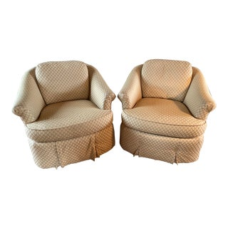 Century Furniture Co.Swivel Chairs - a Pair For Sale