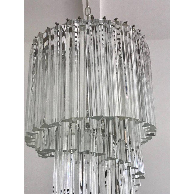 1970s Venini Spiral Chandelier For Sale - Image 5 of 7