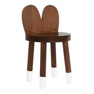 Lola Kids Chair in Walnut With White Finish For Sale
