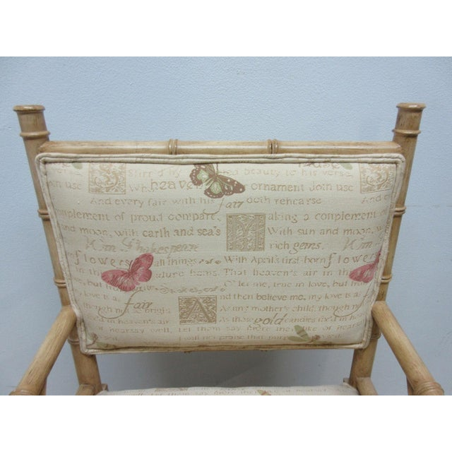 Vintage Faux Bamboo Regency Armchair For Sale - Image 9 of 9