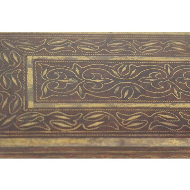 Elegant Brass Inlay Jewelry Box For Sale - Image 4 of 4