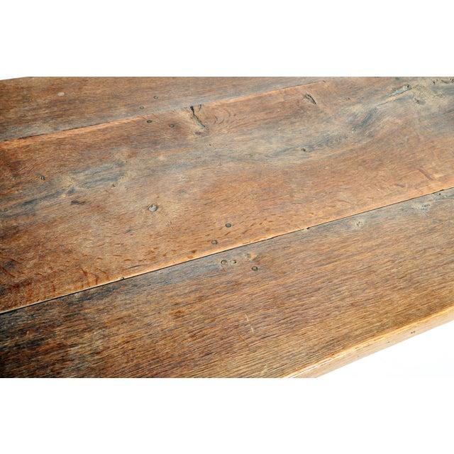 19th Century Swiss Oak Wood Farm Table For Sale - Image 10 of 13