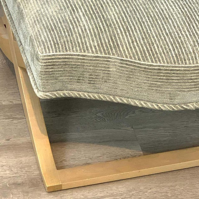 """Early 21st Century Angelo Donghia """"Versailles"""" Blonde Wood Bench/ Ottoman by John Hutton For Sale - Image 5 of 7"""