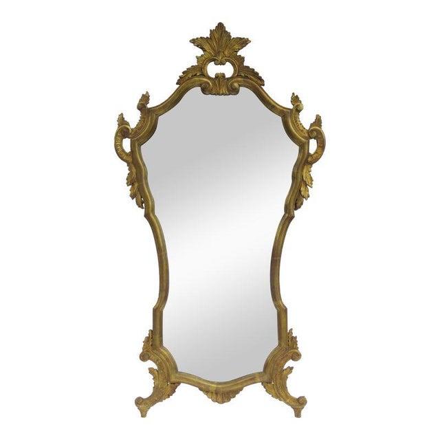 Vintage C.1950's Hollywood Regency Era Italian Venetian Gilt Gold Leaf Carved Mirror For Sale - Image 13 of 13