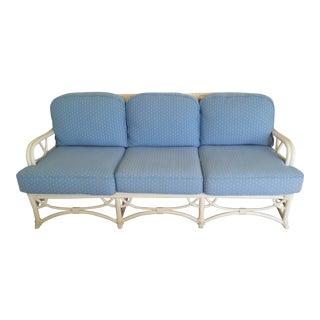 Vintage Ficks Reed Blue Sofa