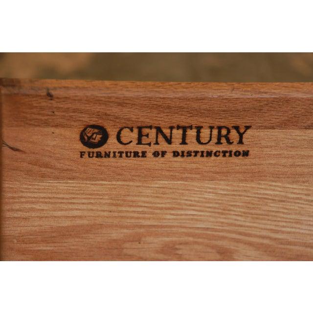 Century Furniture Black Lacquer & Burlwood Armoire - Image 11 of 11
