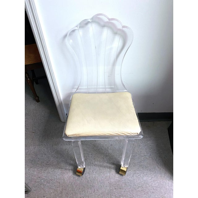 Vintage Lucite Fan Shell Back Chair by Hill Mfg For Sale - Image 10 of 10