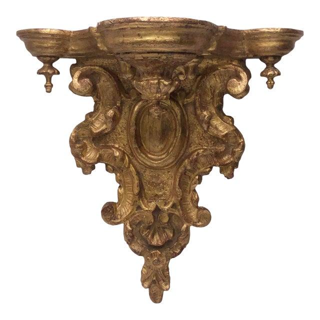18th Century Italian Gilt Heavily Carved Bracket For Sale
