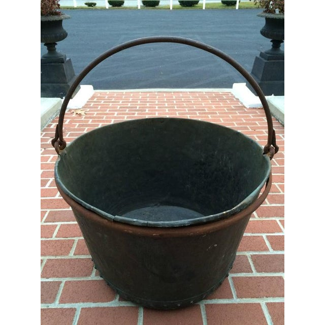 Large Early 19th Century Riveted Copper Log Holder For Sale - Image 9 of 11