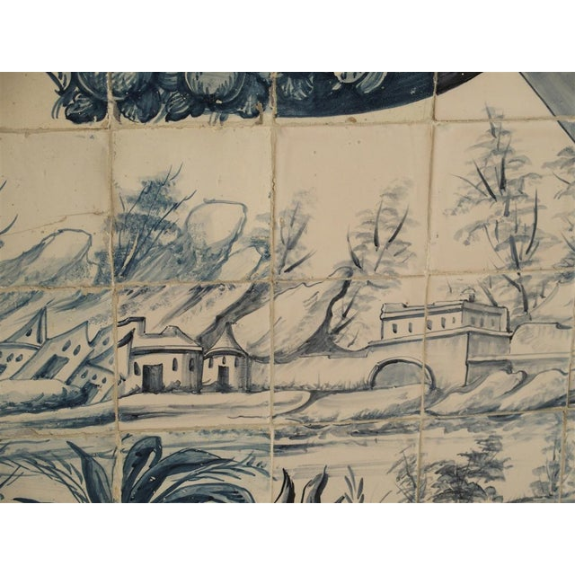 Mid 18th Century Monumental 3-Piece 18th Century Azulejo Mural Panel From Portugal For Sale - Image 5 of 13