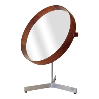 Vintage Table-Top Mirror by Uno and Östen Kristainsson for Luxus Vittsjös For Sale