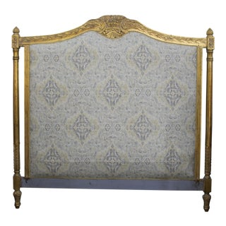 Vintage Upholstered Louis XVI King Headboard