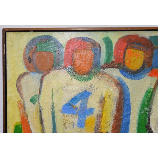 "Monumental Mid Modern ""Football"" Painting by J. Beall c.1960 For Sale - Image 4 of 10"