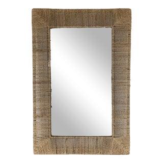 Natural Woven Fiber Mirror For Sale