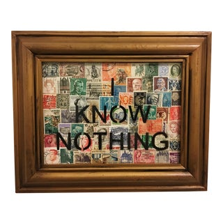 """I Know Nothing"" Mixed Media on Board Collage For Sale"