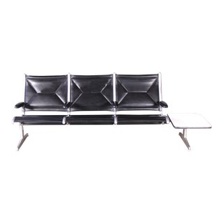 Herman Miller Eames Tandem Sling Bench With Table 3 Chair Seater Mid Century Modern Atomic For Sale
