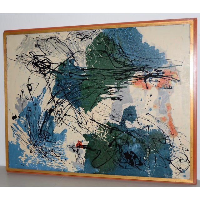 Abstract Expressionist Oil Painting by Van Winkle C.1950s For Sale - Image 12 of 12