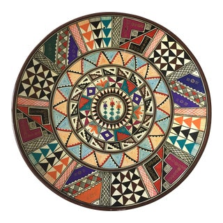 Vintage Hand-Painted Peruvian Clay Plate
