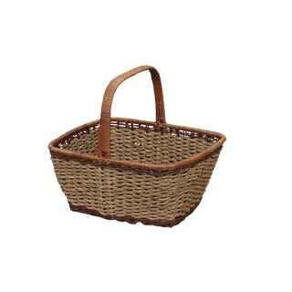 Two Tone Rope & Wicker Basket