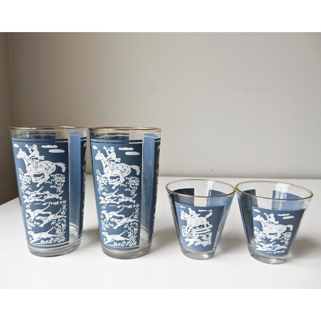 Mid-Century Modern Vintage Cocktail Shaker and Glasses Set - Set of 11 For Sale - Image 3 of 10