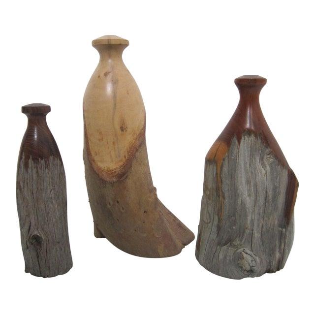 Vintage Burlwood Vases - Set of 3 - Image 1 of 4