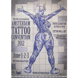 2012 Contemporary Dutch Poster, Amsterdam International Tattoo Convention - Vince For Sale
