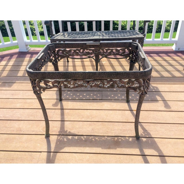 Cast Classics Cast Aluminum Settee & Table - A Pair - Image 9 of 11
