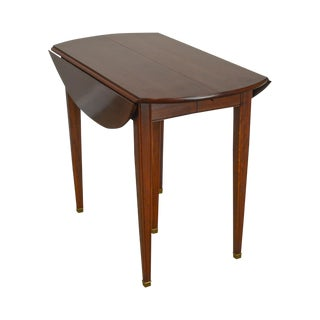Kling Solid Cherry Drop Leaf Extension Dining Table W/ 4 Leaves For Sale