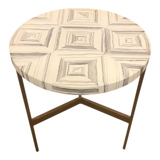Contemporary Hickory White Gabin End Table For Sale
