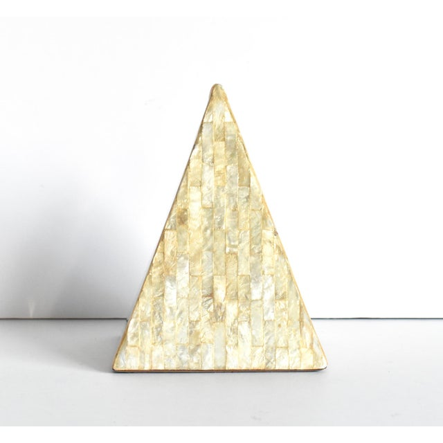 Contemporary Vintage Mother of Pearl Inlaid Pyramid Curio For Sale - Image 3 of 8